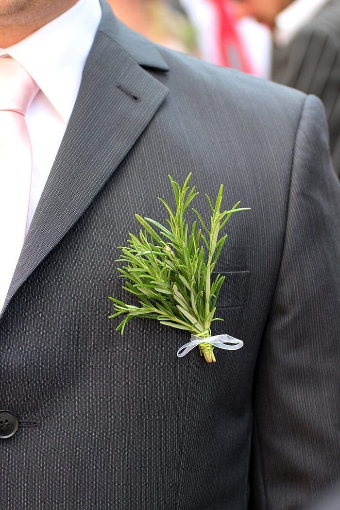 Anstecker für Hochzeitsgäste