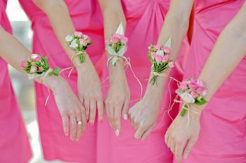 Brautjungfer Blumenarmband