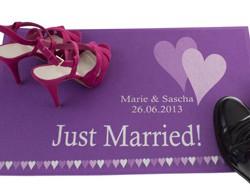 Fussmatte Just married