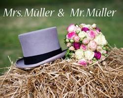 Fussmatte Mrs und Mr