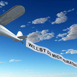 Heiratsantrag Ideen Flugzeugbanner