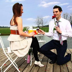 Heiratsantrag Picknick
