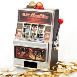 Hochzeitsgeschenk Spardose Spielautomat