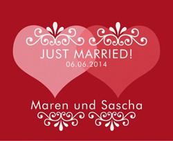 Just married Fußmatte