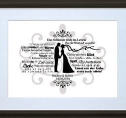 Personalisiertes Bild Brautpaar