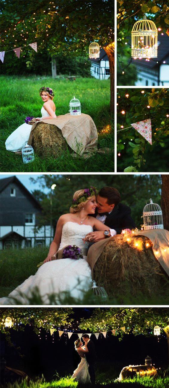 Rustikale Hochzeit Lampions