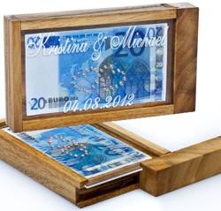 Magische Swarovski Geldgeschenkbox