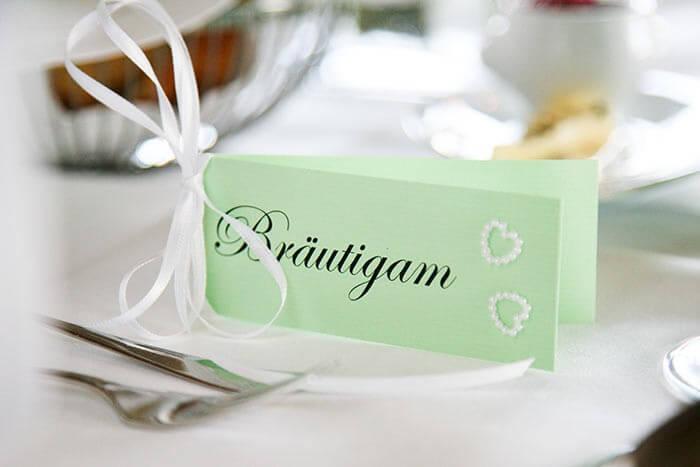 Tischkarten basteln Hochzeit
