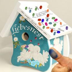 Kreatives Hochzeitsgästebuch als Vogelhaus