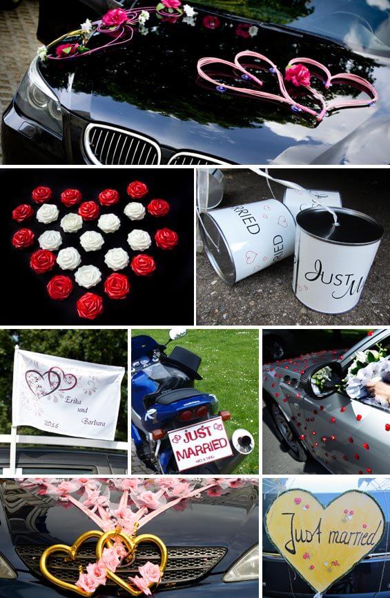Autoschmuck Hochzeit in Herzform