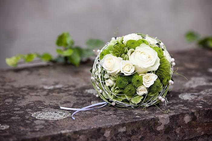Brautstrauß Weiß Grün