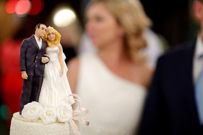 Figuren Hochzeitstorte