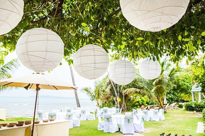 Hochzeit Lampions