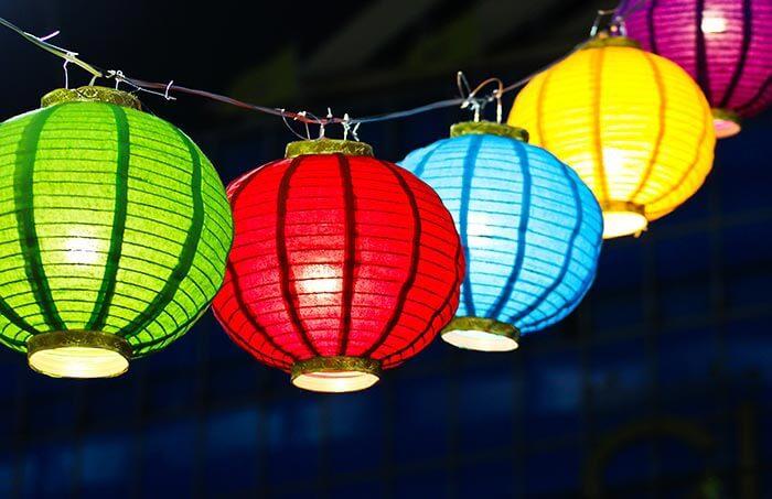 Lampion Lichterkette