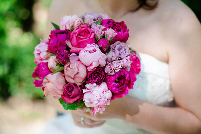 Pfingstrosen Brautstrauß