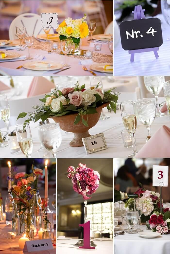 Tischnummer elegant