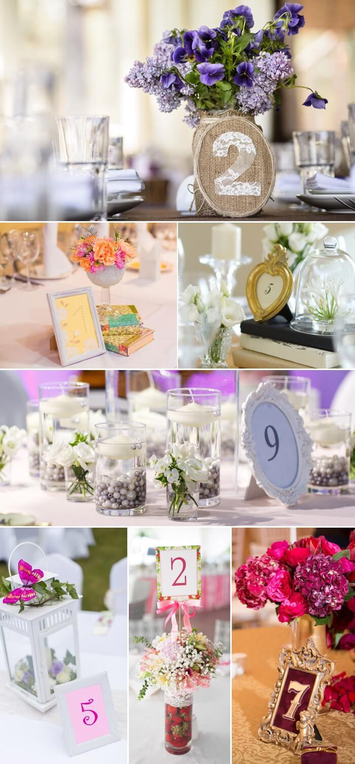 Tischnummern zur Hochzeit: Vintage Stil