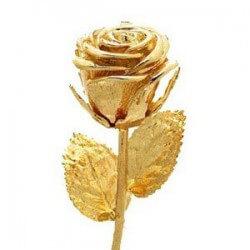 Geschenke zur Goldenen Hochzeit: Goldene Rose