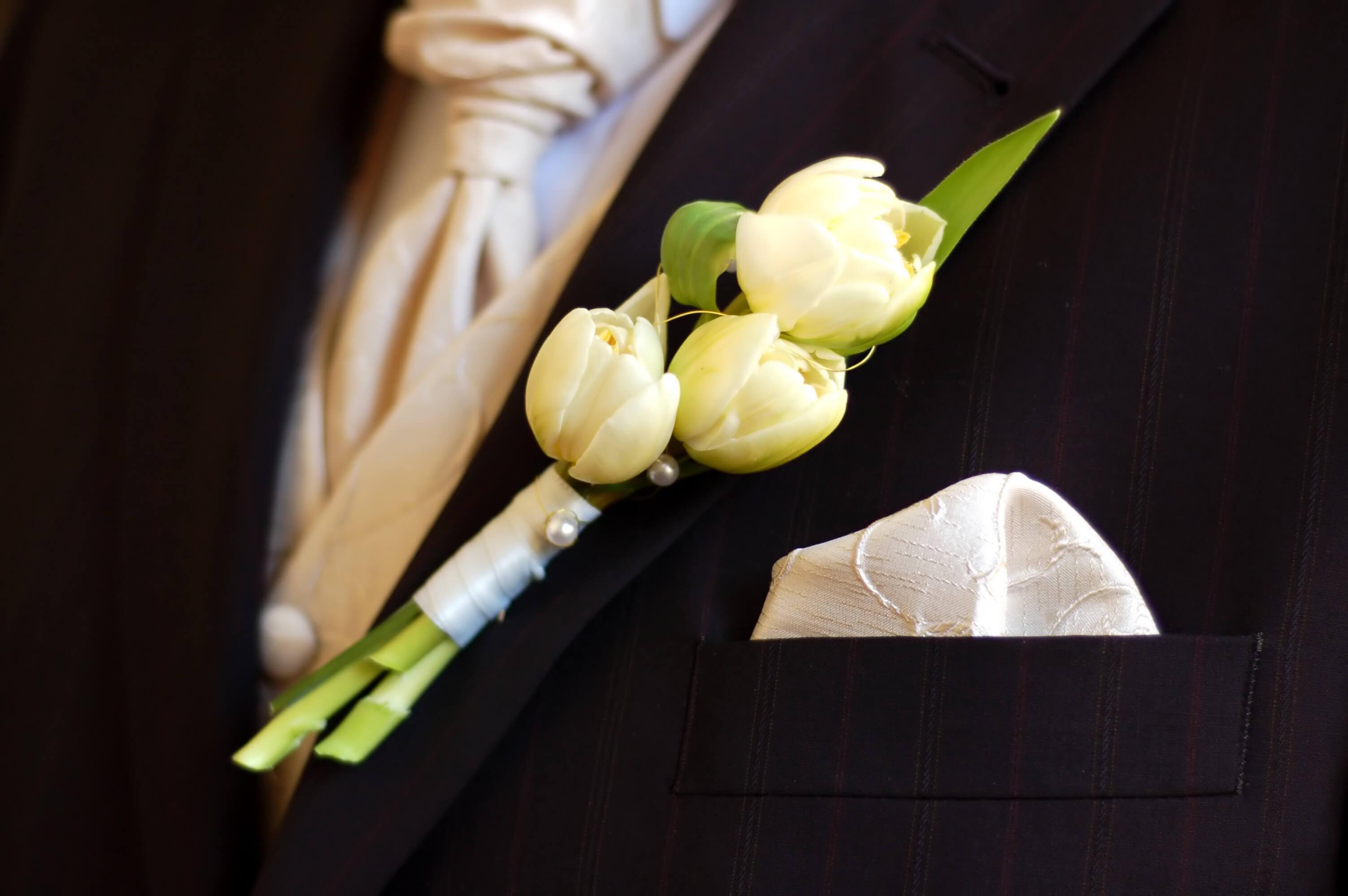 Anstecker Bräutigam Einstecktuch