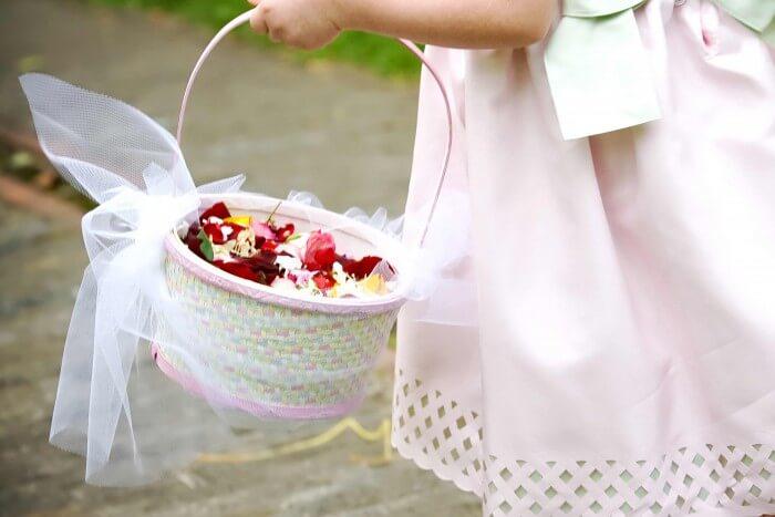 Blumenkörbchen Hochzeit