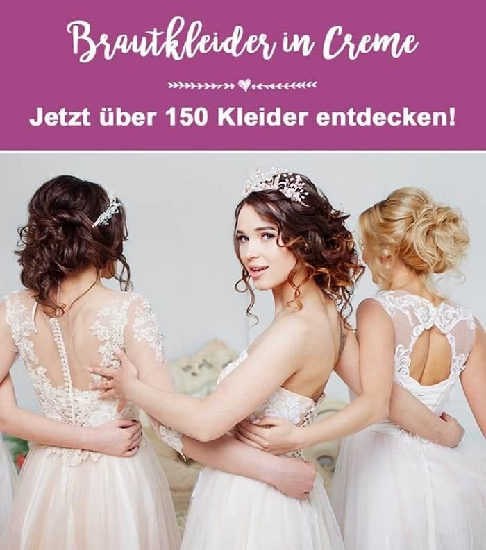 Brautkleider in Creme