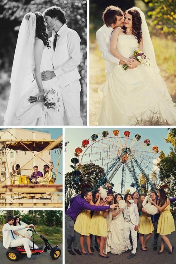 Gelb Lila Hochzeitsinspiration