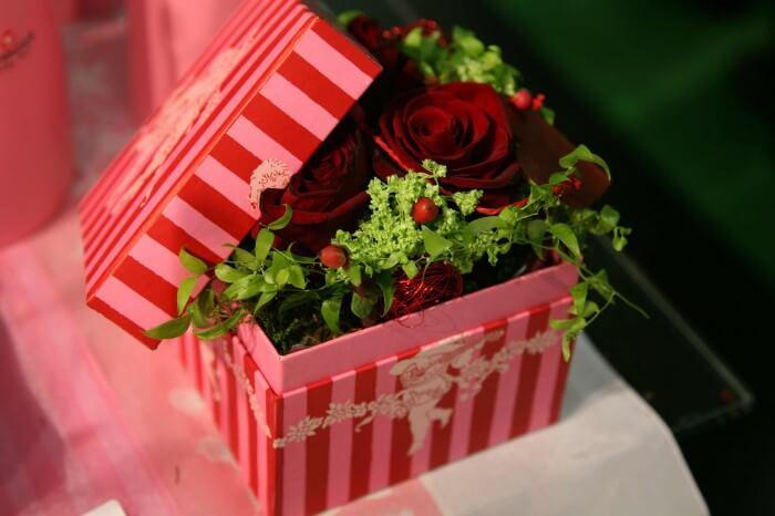 Hochzeit Blumendeko Schachtel