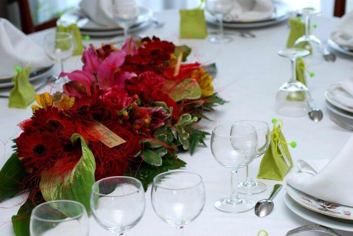 Hochzeit Tischdeko Blumen