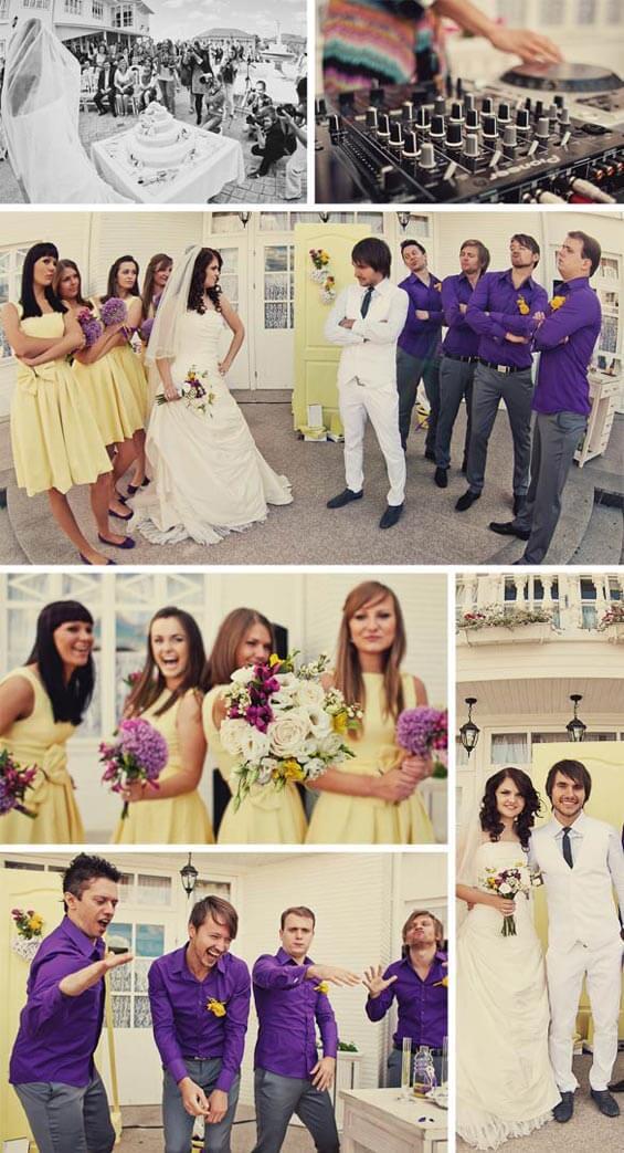 Hochzeitsinspiration gelblila