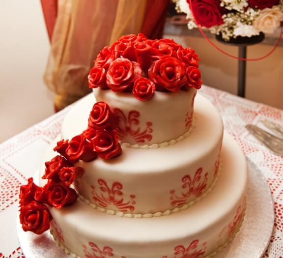 Hochzeitstorte 3-stöckig