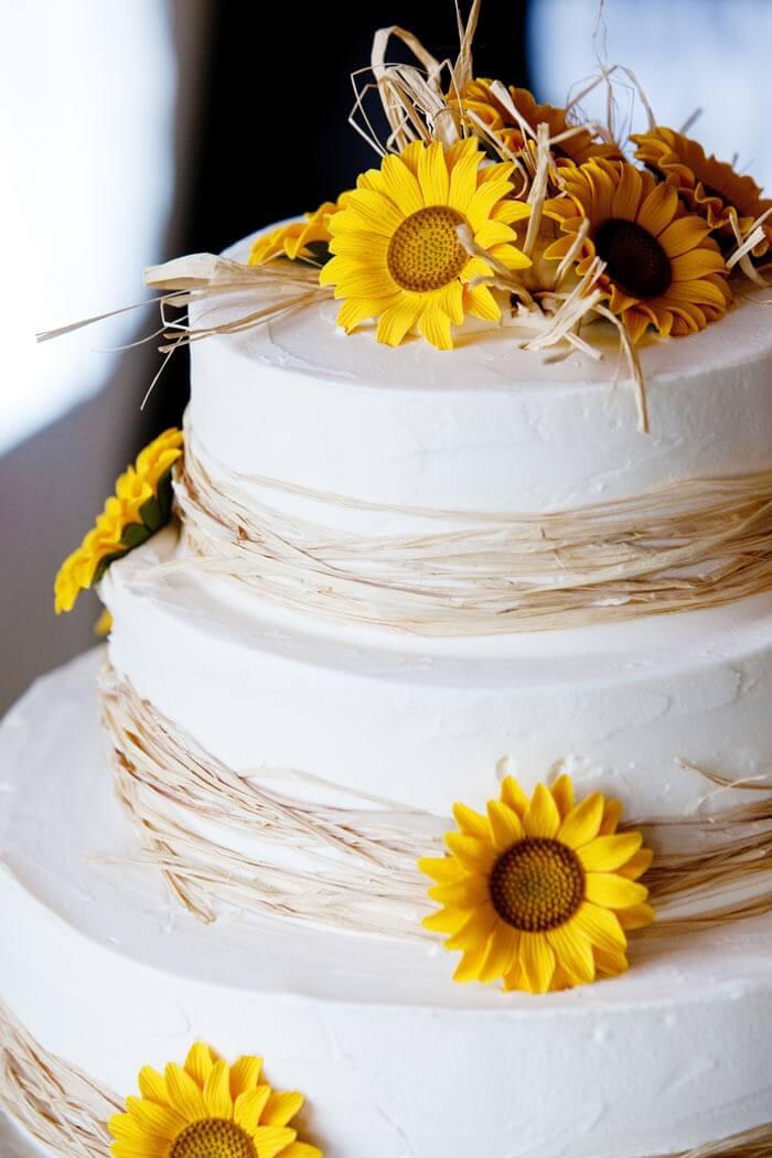 Hochzeitstorte Sonnenblume
