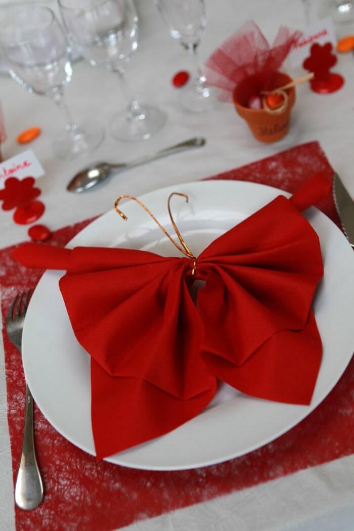 Servietten Falten Hochzeit