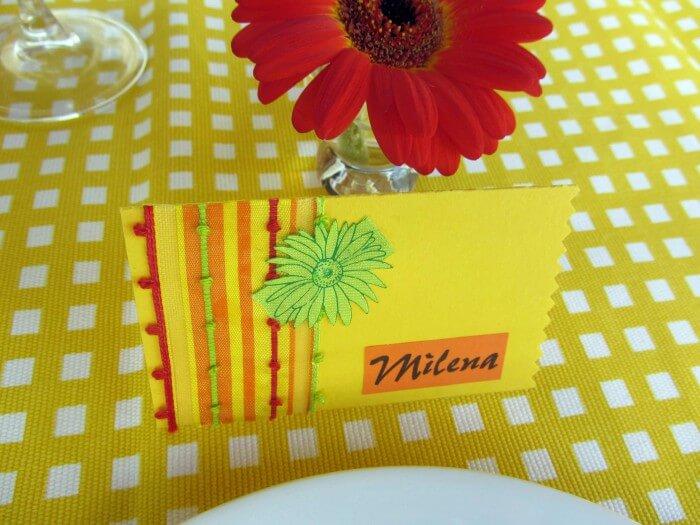 Tischkarten Hochzeit selber machen