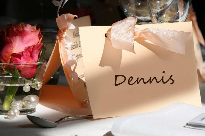 Tischkarten für Hochzeit