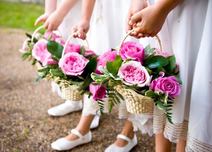 Blumenkinder zur Hochzeit
