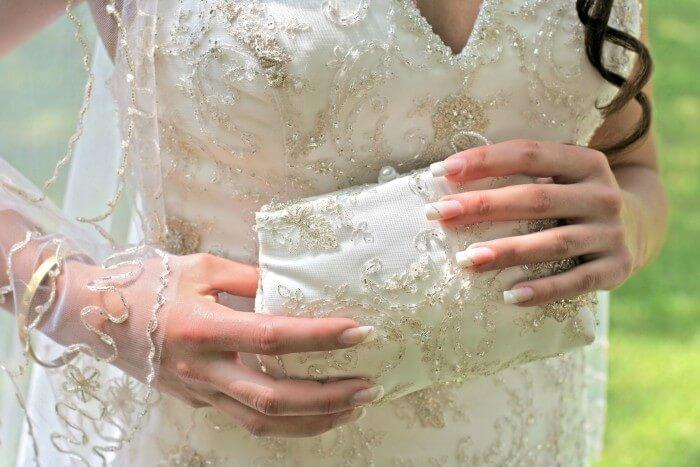 Brauttasche ivory