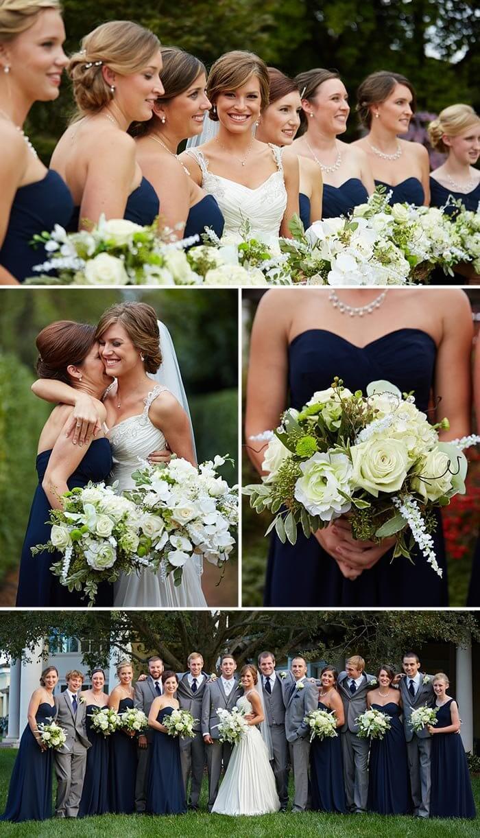 christliche Hochzeit die Brautjungfern
