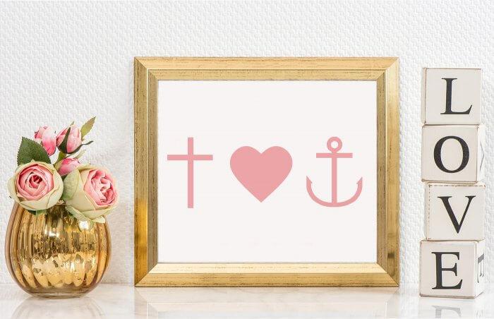 christliche Symbole Glaube Liebe Hoffnung