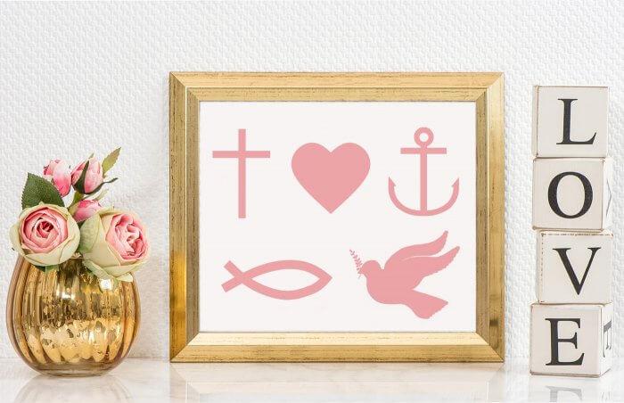 christliche Symbole Hochzeit