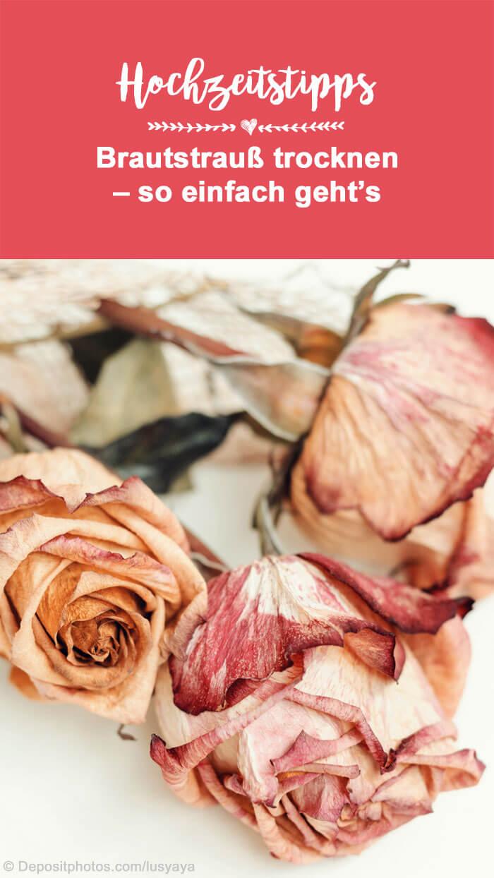 DIY Blumenstrauß trocknen