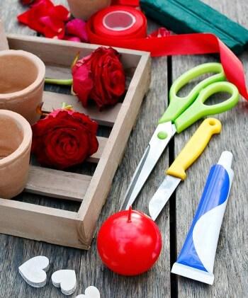 Romantische Tischdeko: Das Material