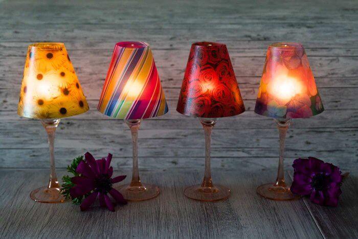 Lampenschirm Weinglas