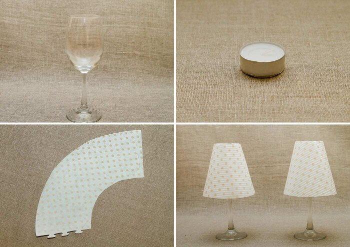 Weinglas Lampe