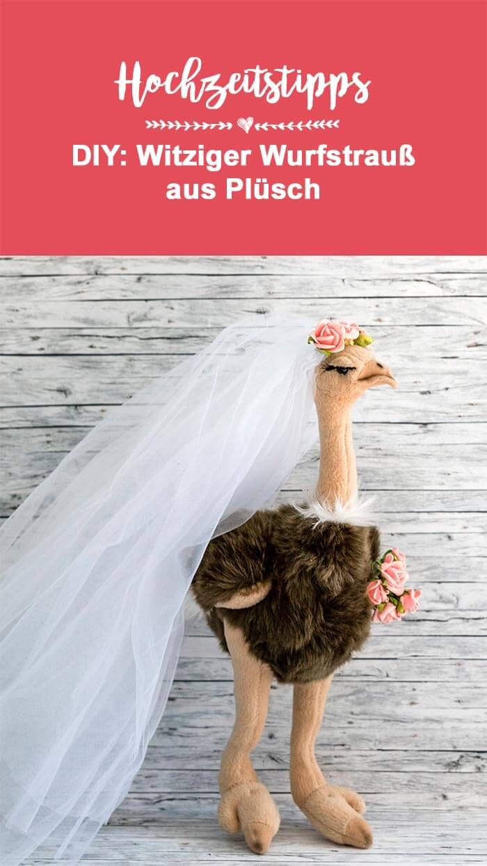 DIY Wurfstrauß aus Plüsch