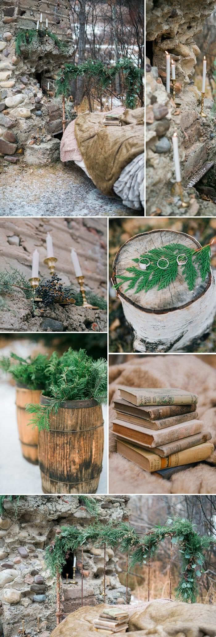 Deko im Wald