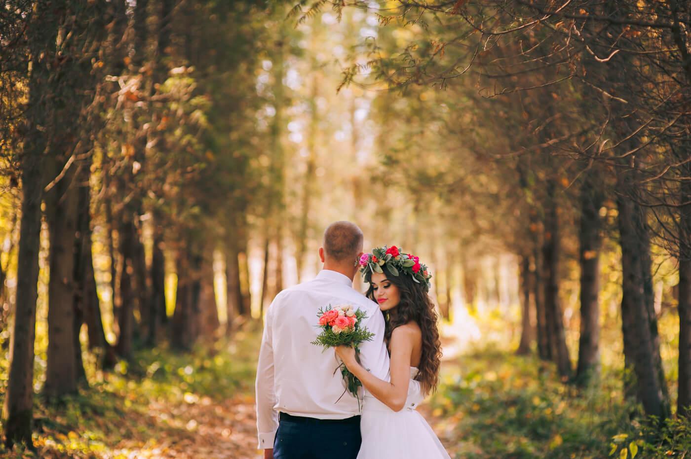 Hochzeitsfotos Wald