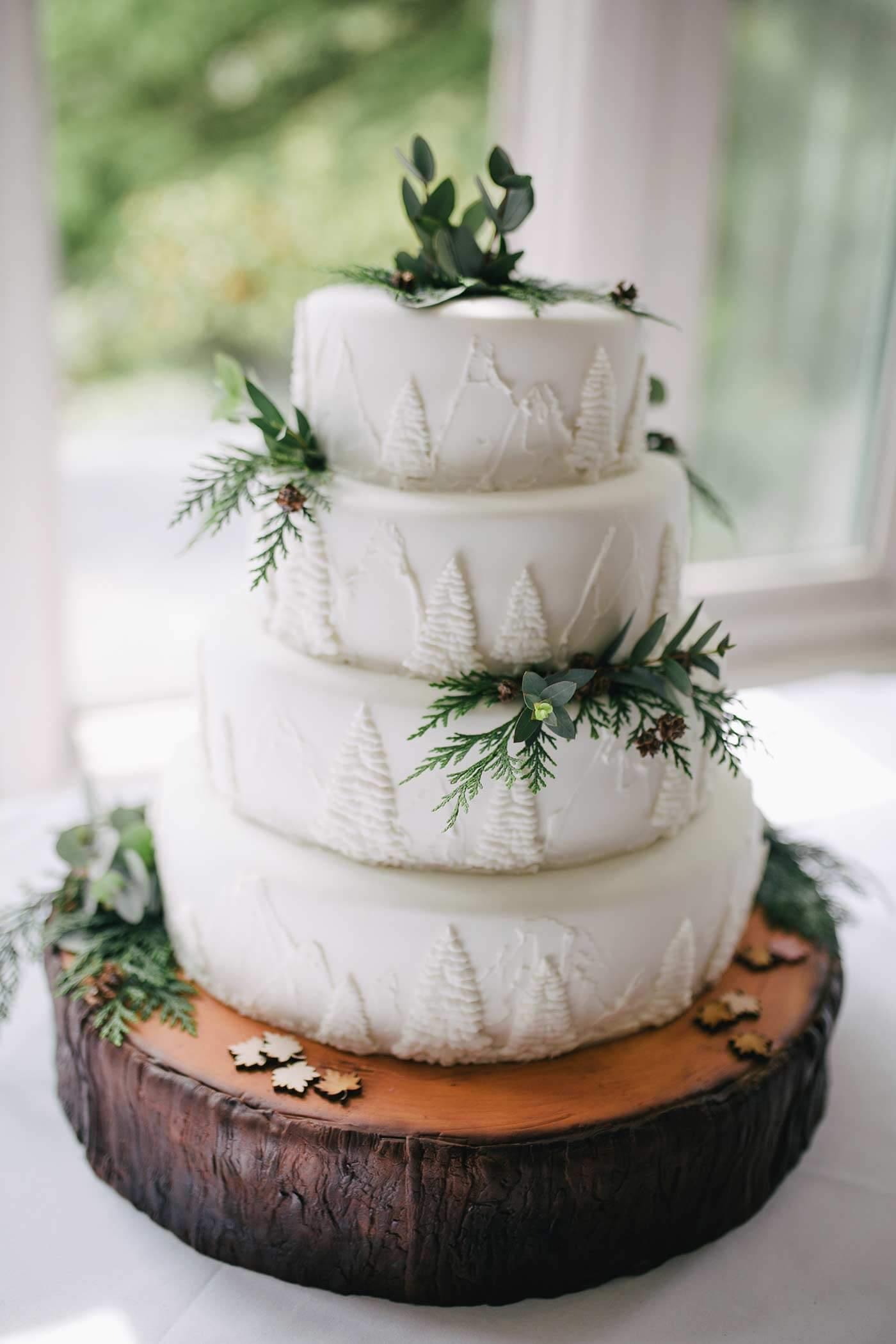 Im Wald heiraten Torte