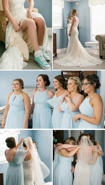 Frühlingshochzeit Brautjungfern