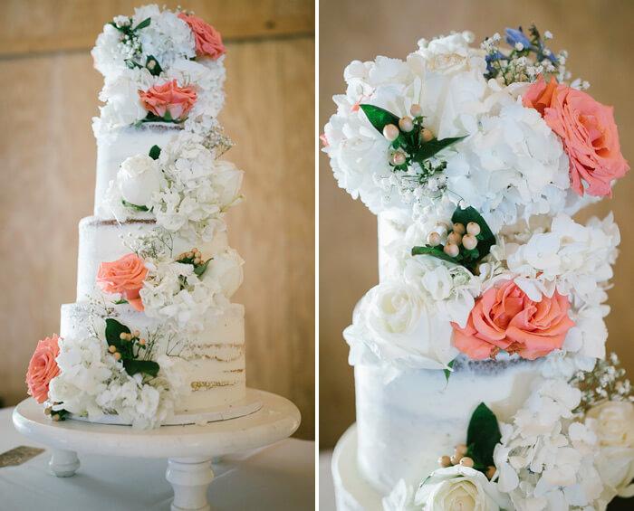 Hochzeitstorte Frülingsblumen
