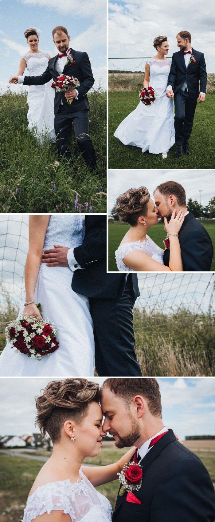 Hochzeitsbilder Fußballtor